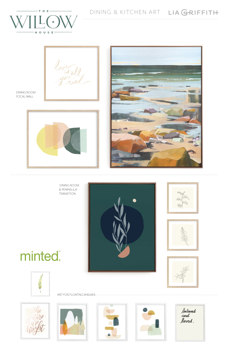 Dining room art from Minted