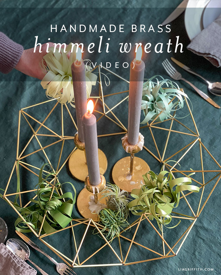 handmade brass himmeli wreath