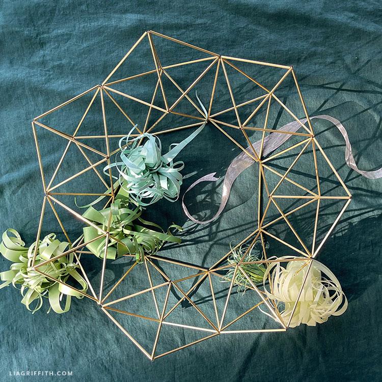 handmade himmeli wreath