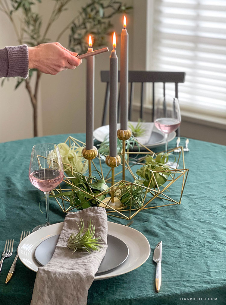 DIY table centerpiece