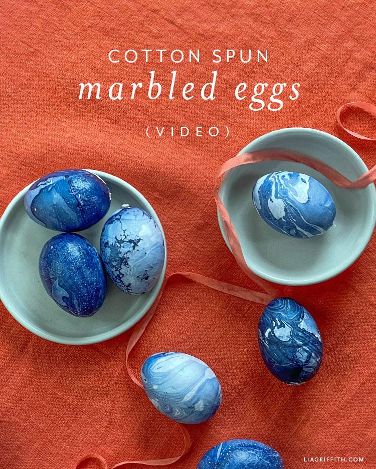 cotton spun marbled eggs