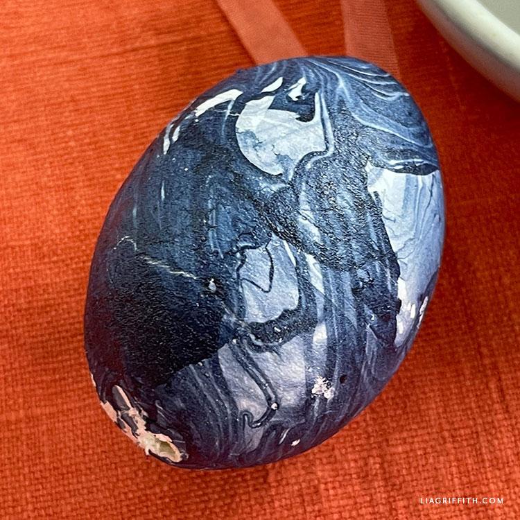 marbled Easter egg