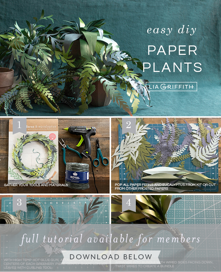 photo tutorial for frosted paper plants by Lia Griffith