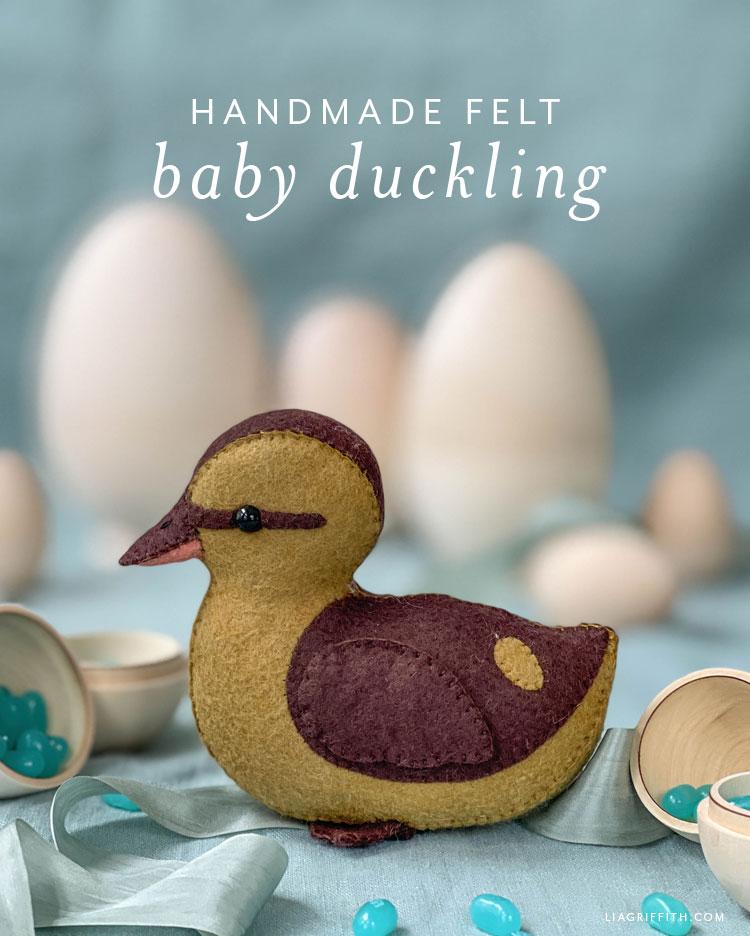 handmade felt baby duckling