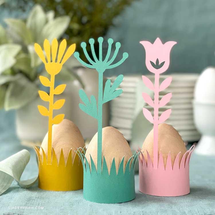 papercut Paskalya yumurtası tutucular
