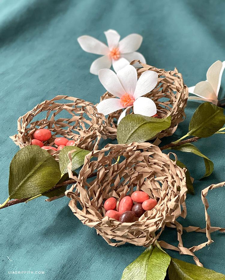 handmade bird nests
