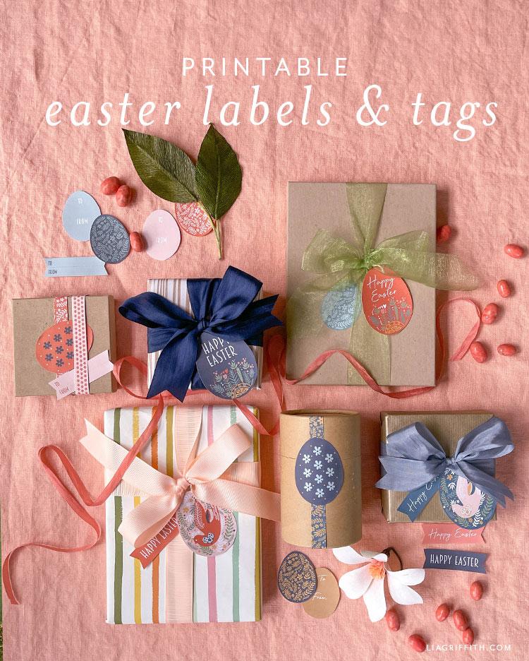 yazdırılabilir Paskalya etiketleri ve etiketleri