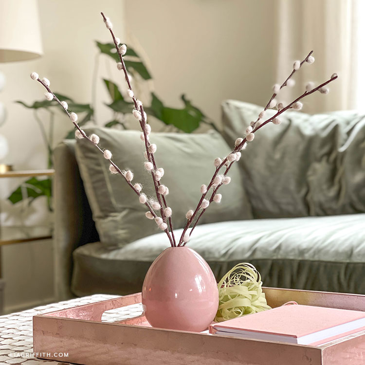 DIY pussy willow branches