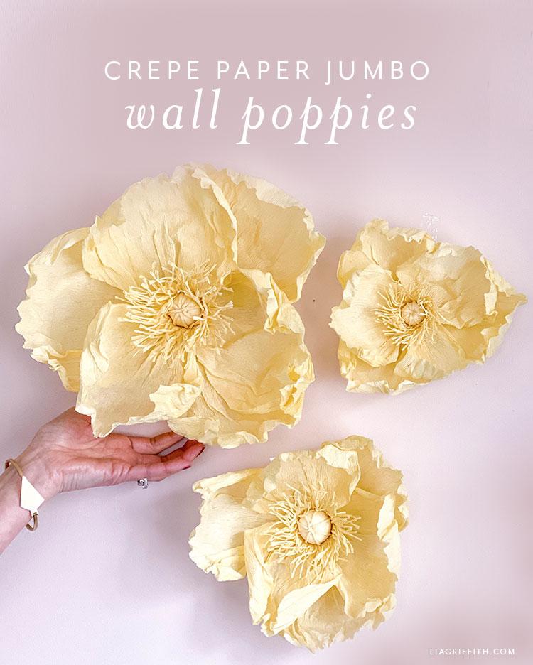 crepe paper jumbo wall poppies