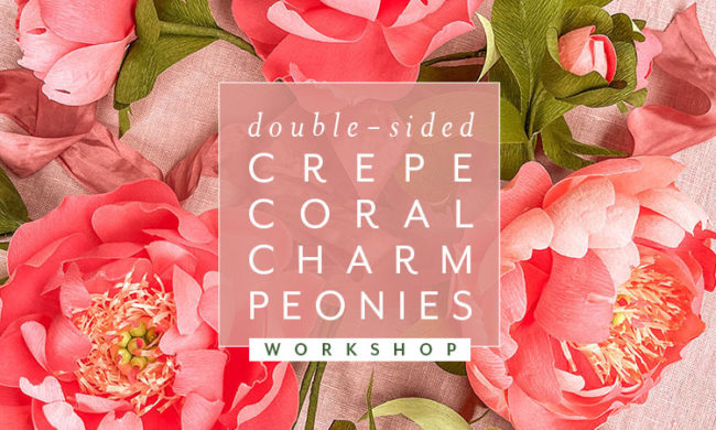 crepe paper peonies workshop