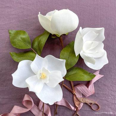 April 2021 Member Make: Crepe Paper Magnolia