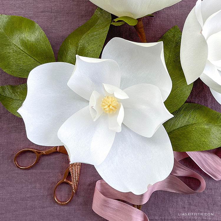 crepe paper southern magnolia