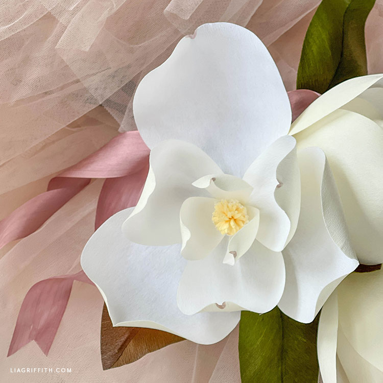 crepe paper magnolia