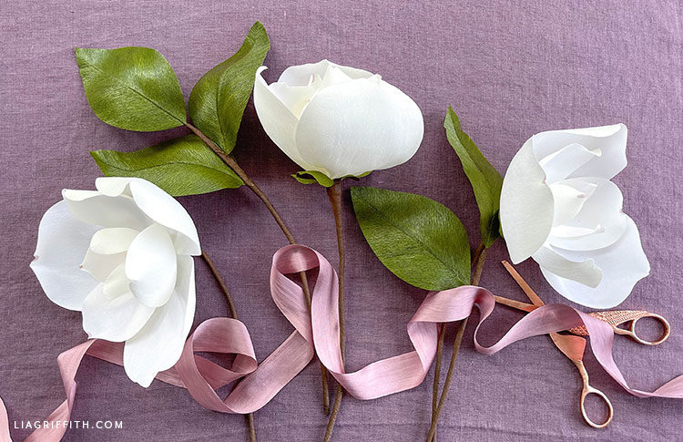 crepe paper southern magnolias