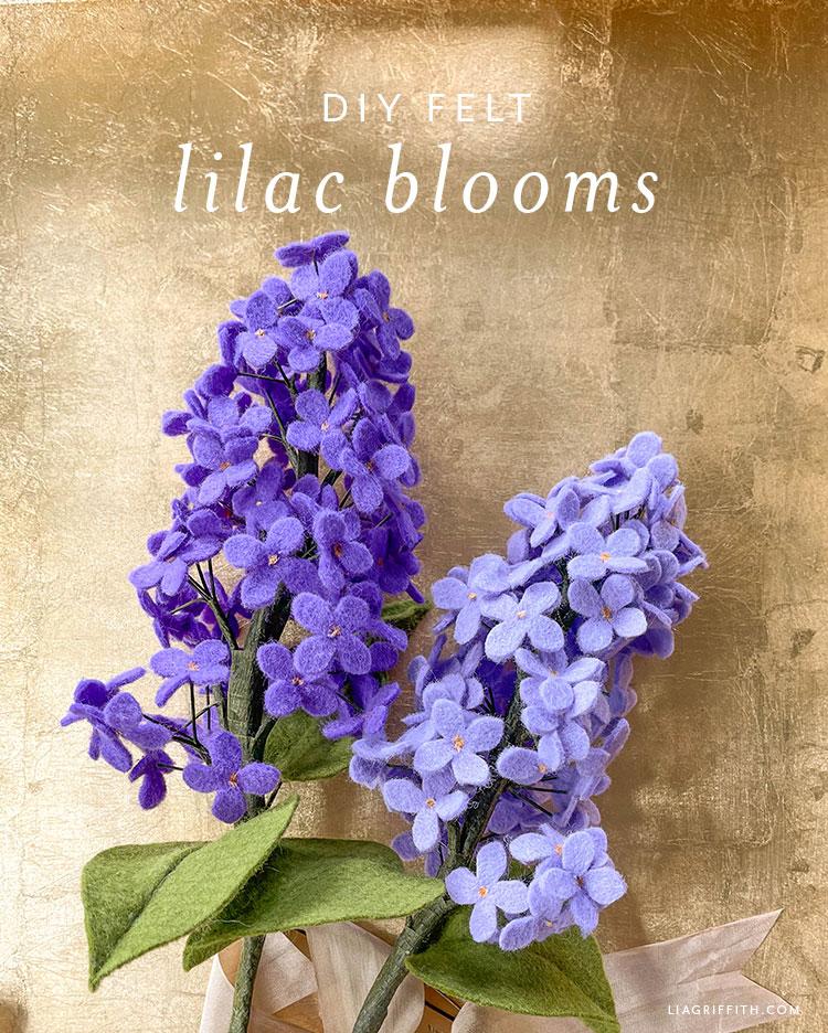 DIY felt lilac blooms