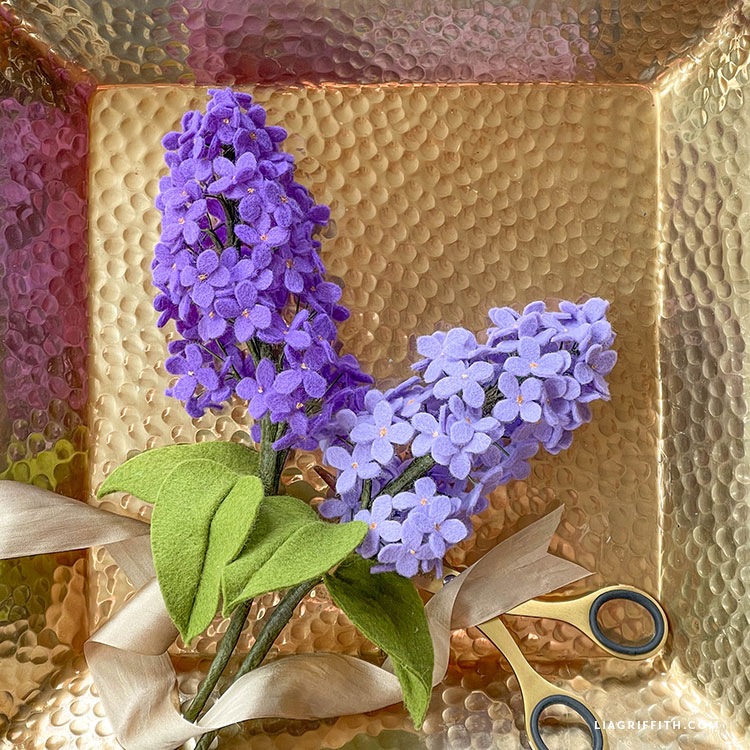 felt lilacs