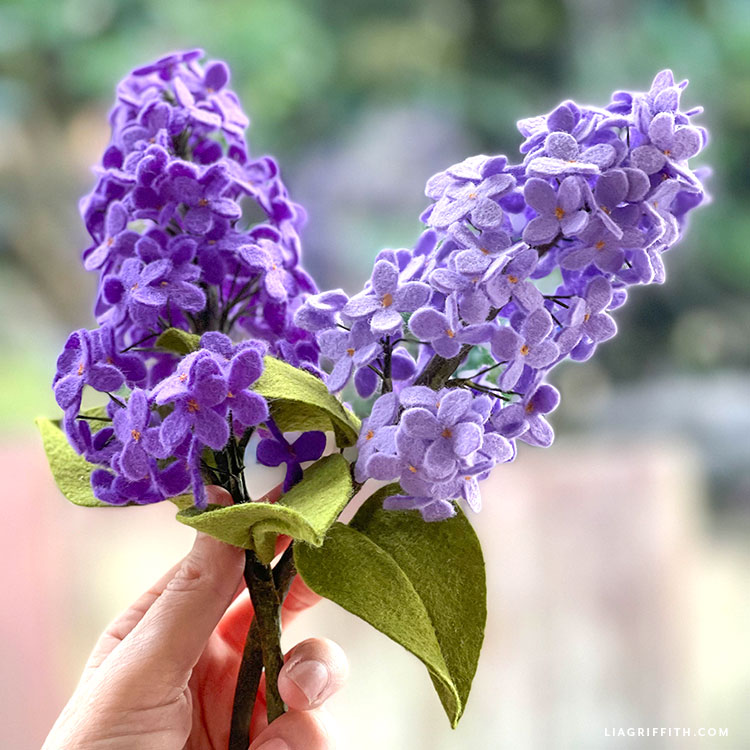 handmade felt lilacs