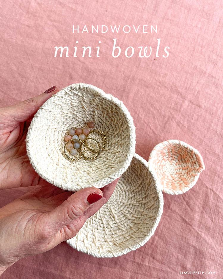 handwoven mini bowls