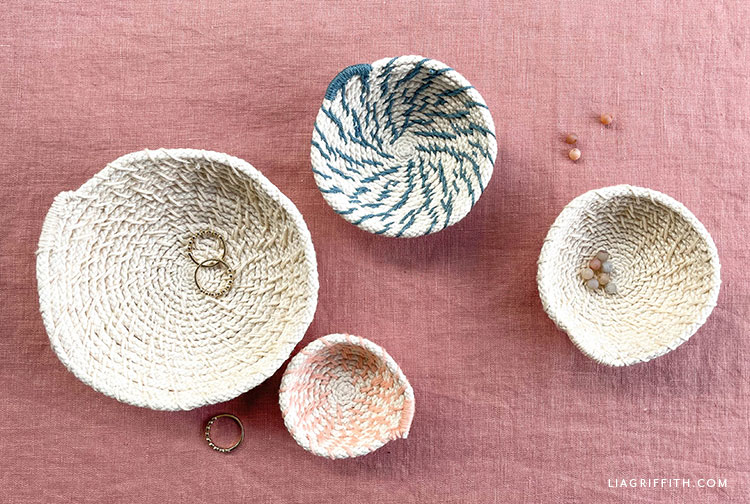 DIY woven bowls