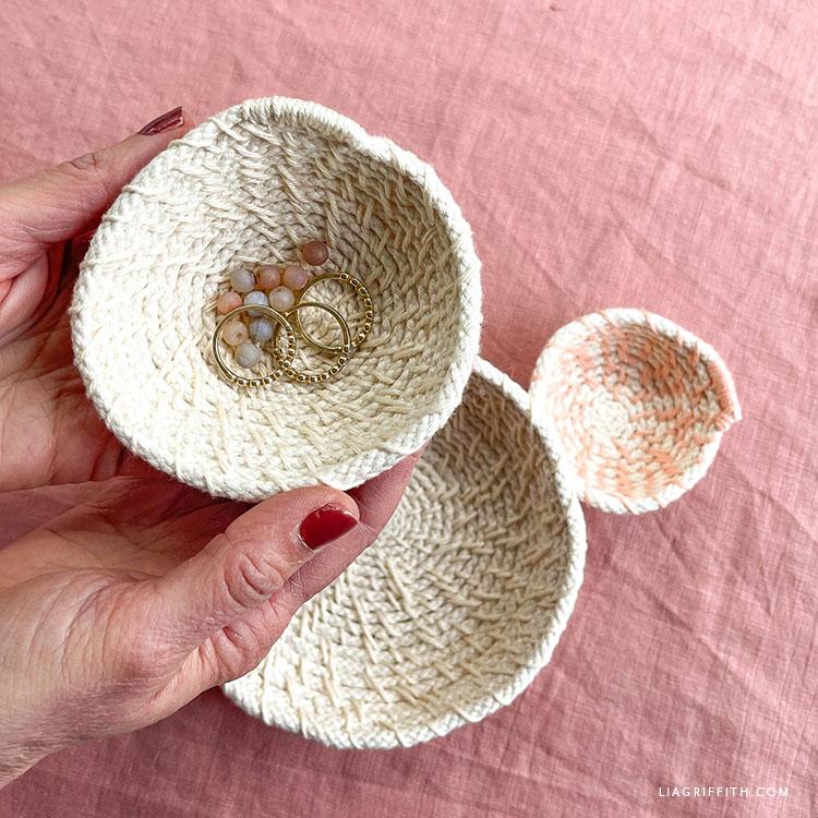 handmade woven bowls