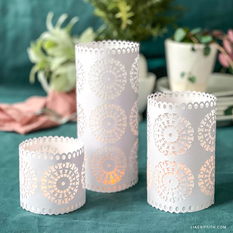 papercut lacy lanterns