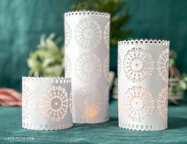 DIY papercut lacy lanterns