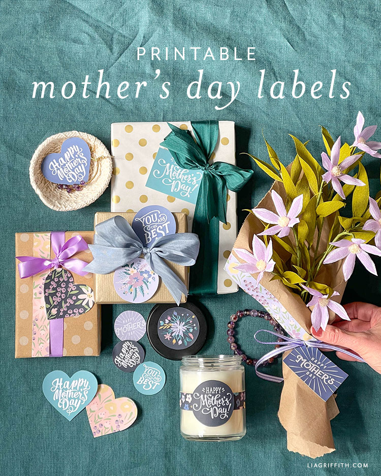 printable Mother's Day labels