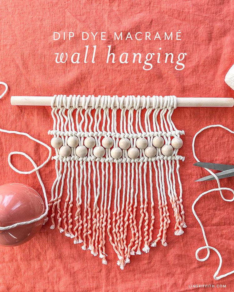 dip dye macrame wall hanging