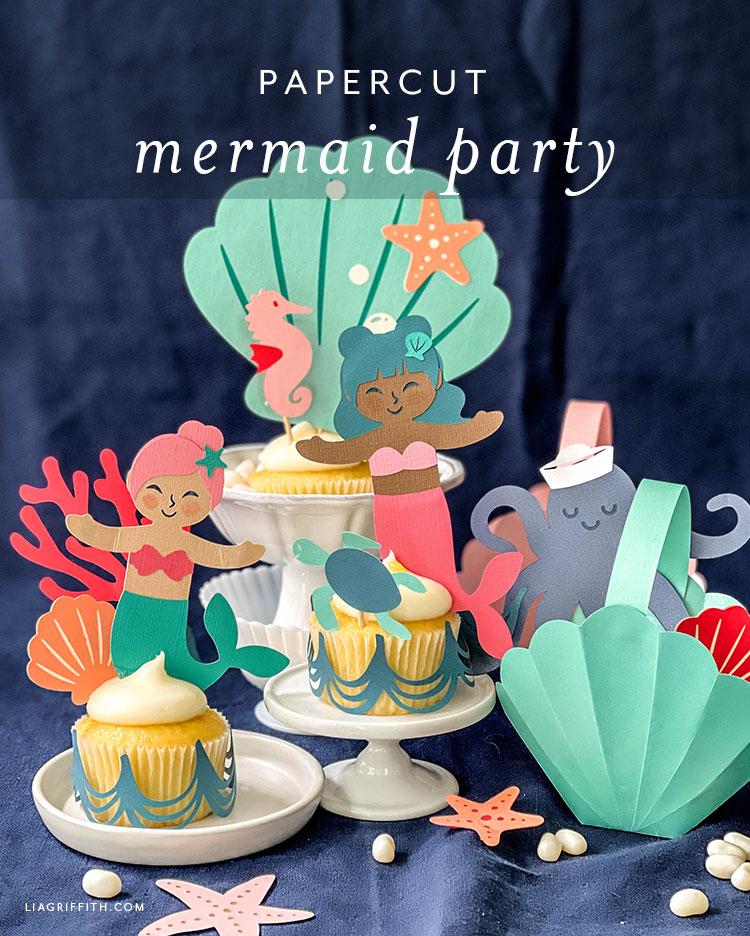 DIY mermaid party decorations