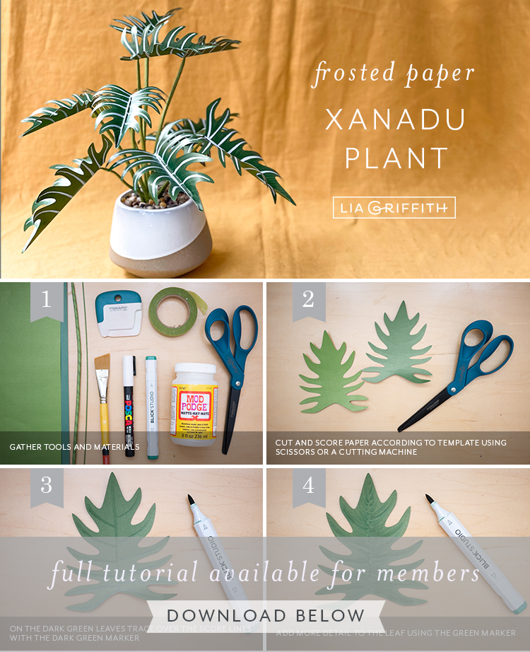 photo tutorial for paper xanadu plant by Lia Griffith