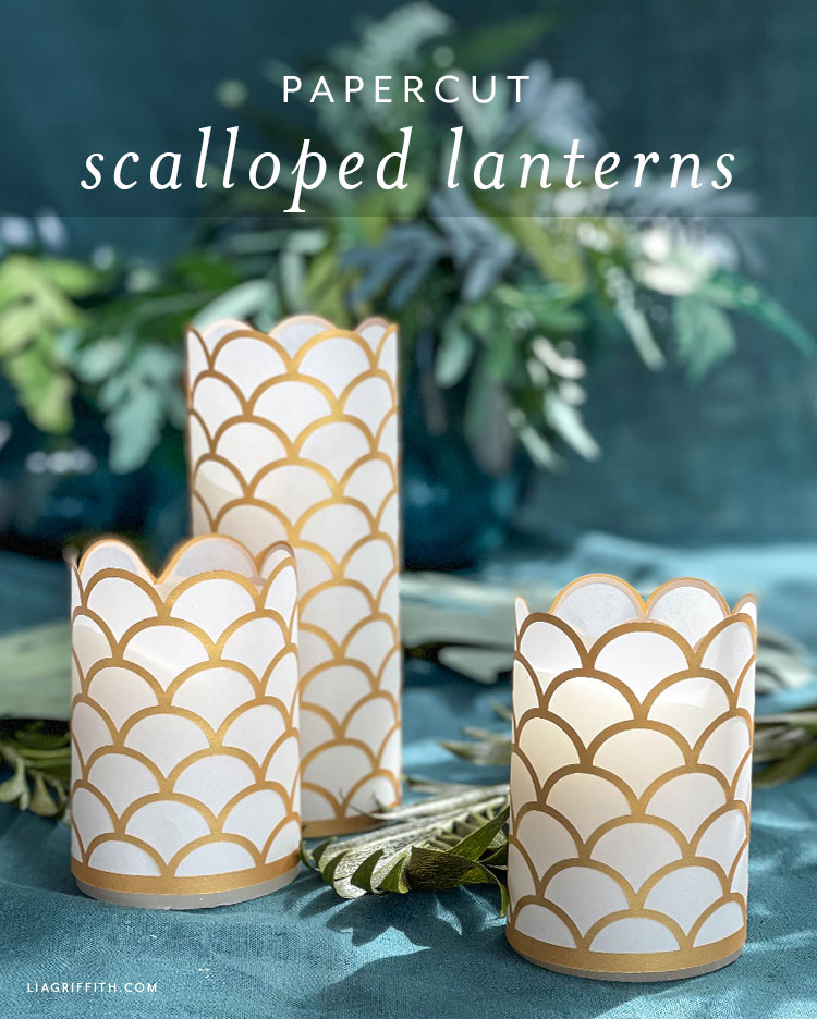 papercut scalloped lanterns
