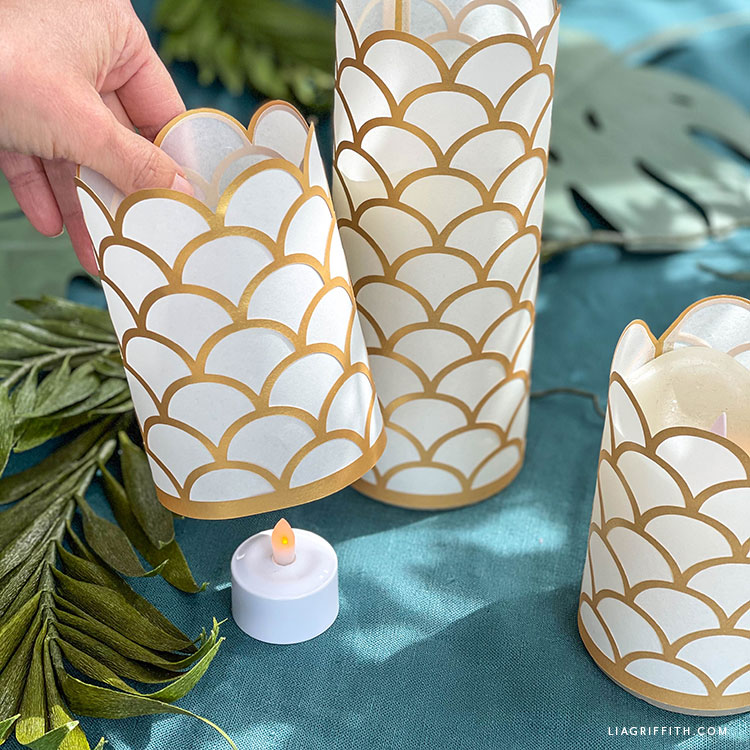 handmade capiz shell paper lanterns