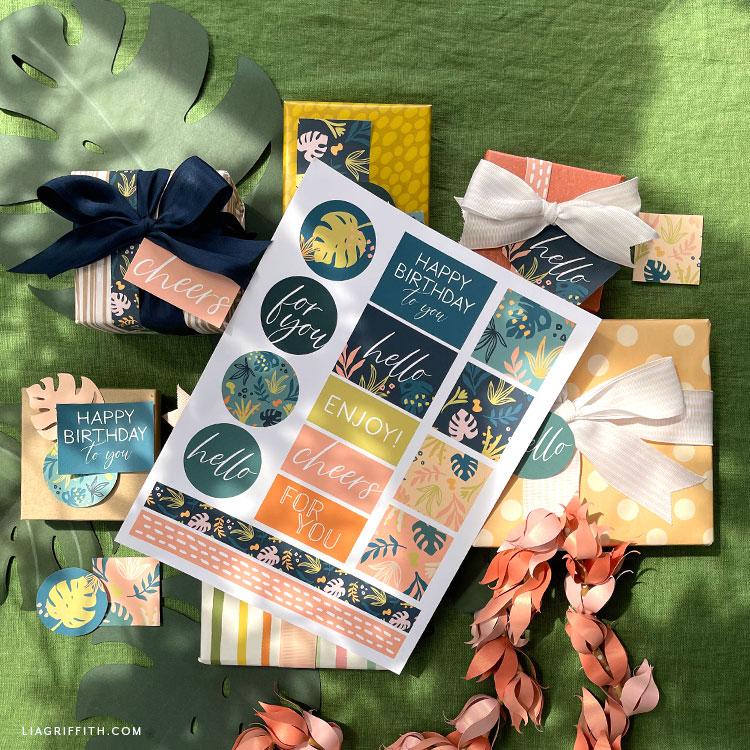 nyomtatható trópusi címkék
