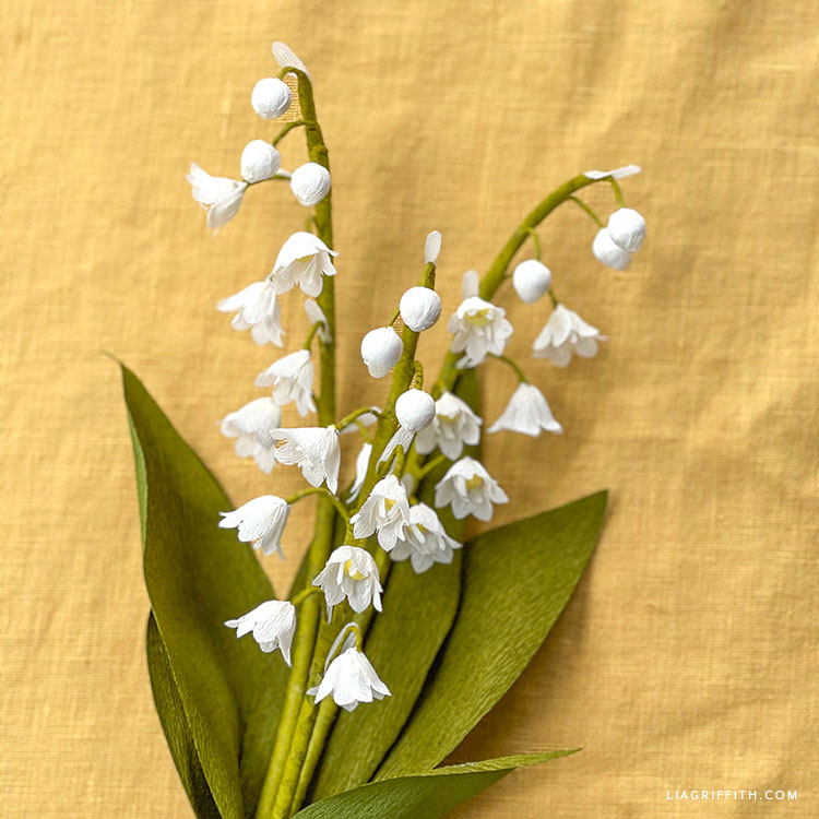 crepe paper lily of the valley