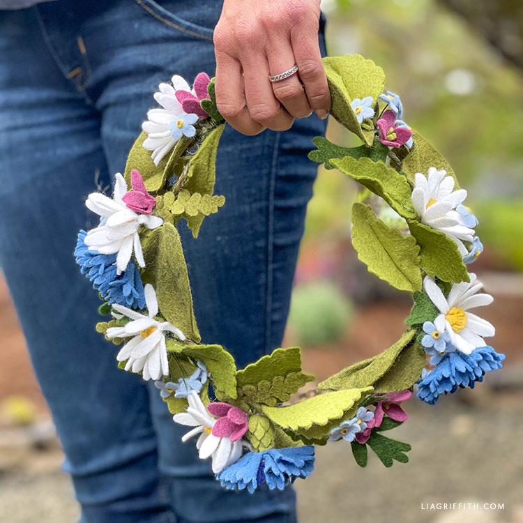 handmade felt midsummer crown