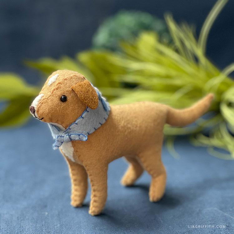 handmade felt dog