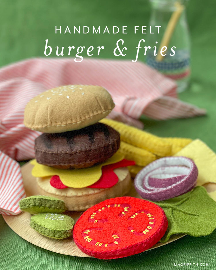 handmade felt burger and fries
