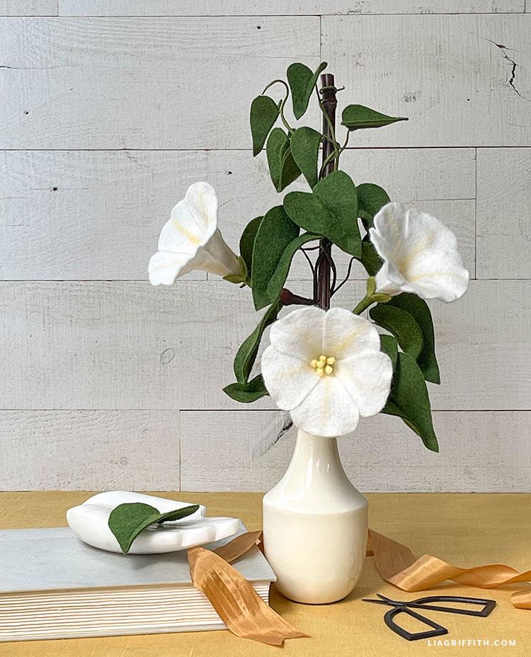 felt moonflower vine