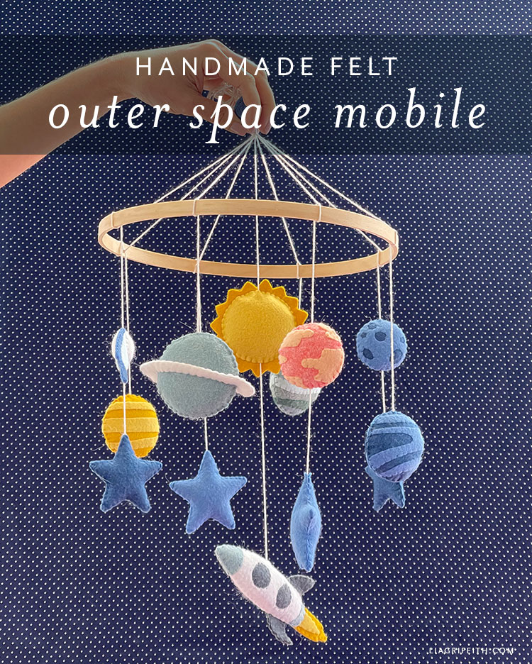 handmade felt outer space mobile