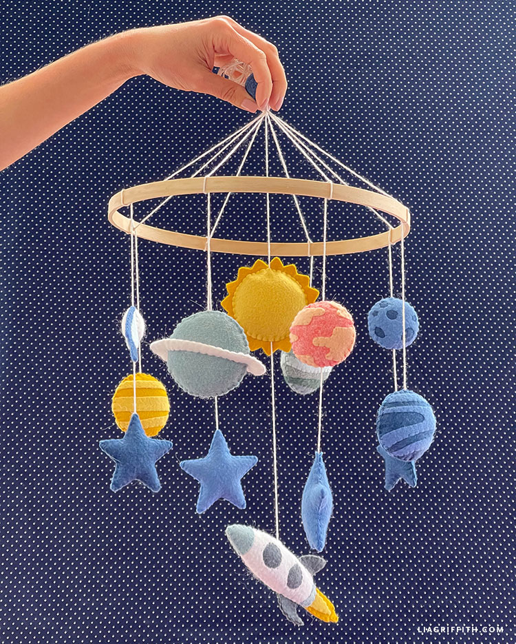 felt outer space mobile