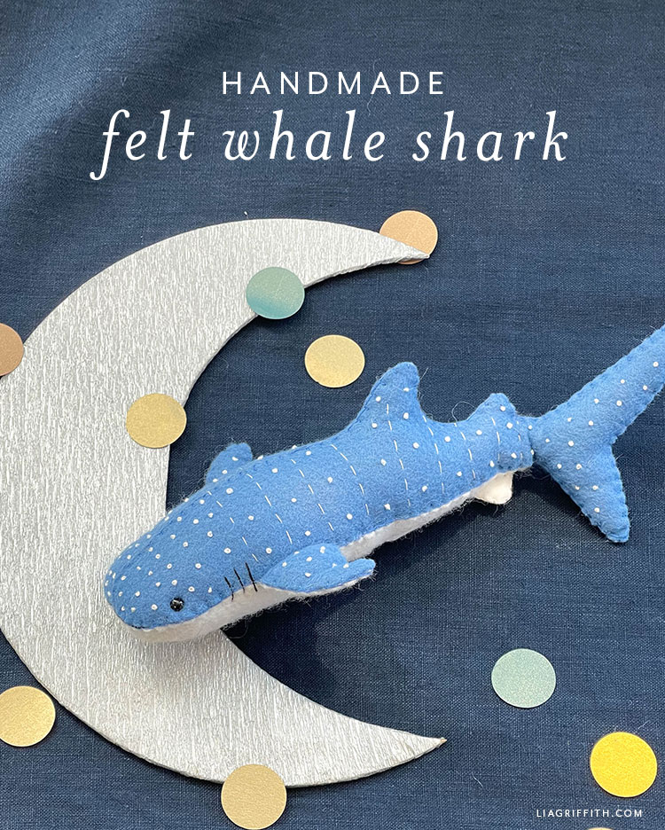 handmade felt whale shark