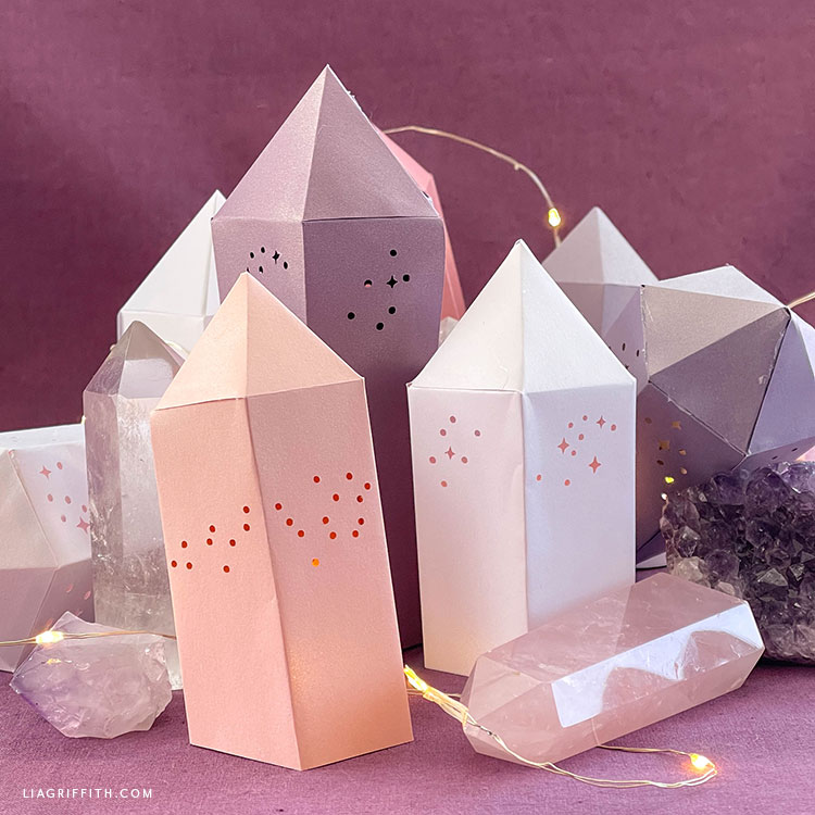 DIY frosted paper crystal prisms