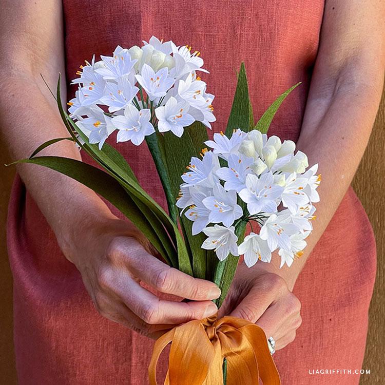 crepe paper agapanthus flowers