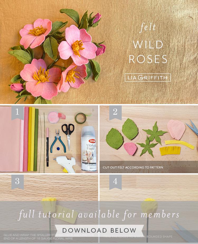 Sentiu rosas selvagens tutorial por Lia Griffith