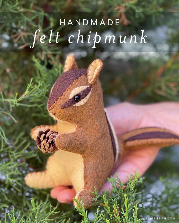 handmade felt chipmunk