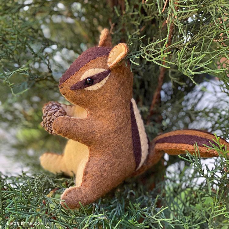 felt chipmunk stuffie