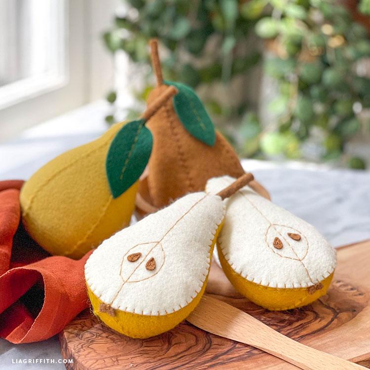 felt pears