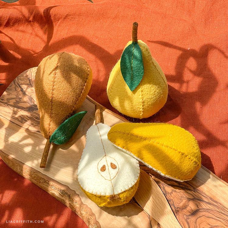DIY felt pears