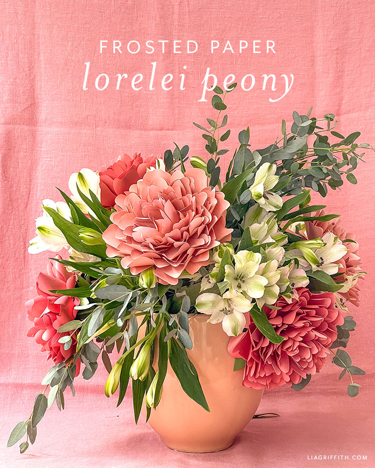 frosted paper Lorelei peony