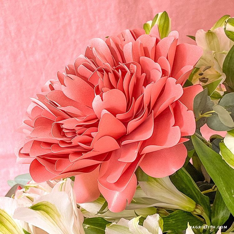 DIY frosted paper Lorelei peony